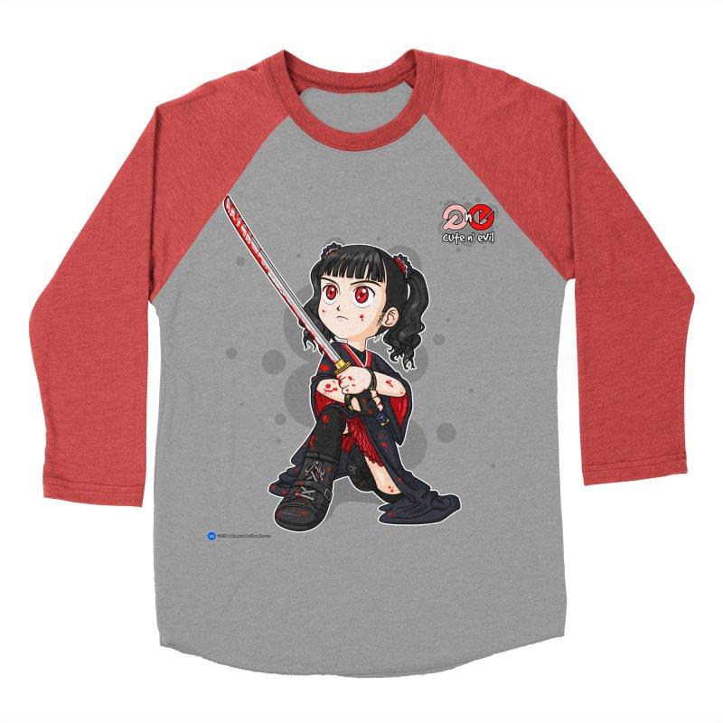 katana - cute n' evil Men's Baseball Triblend T-Shirt by Artist Shop.jpg