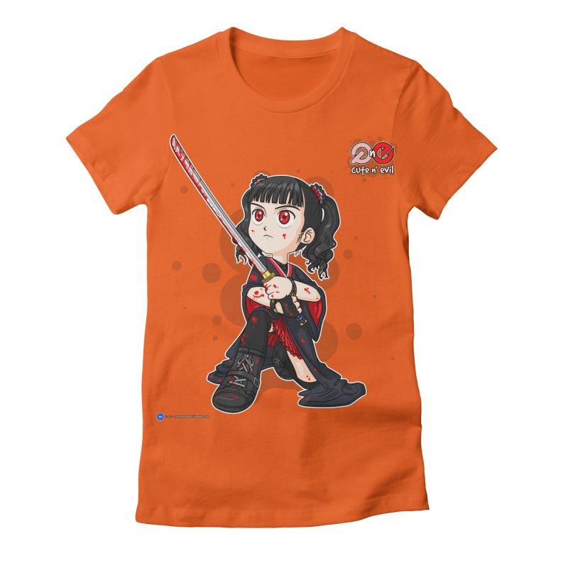katana - cute n' evil Women's Fitted T-Shirt by Artist Shop.jpg