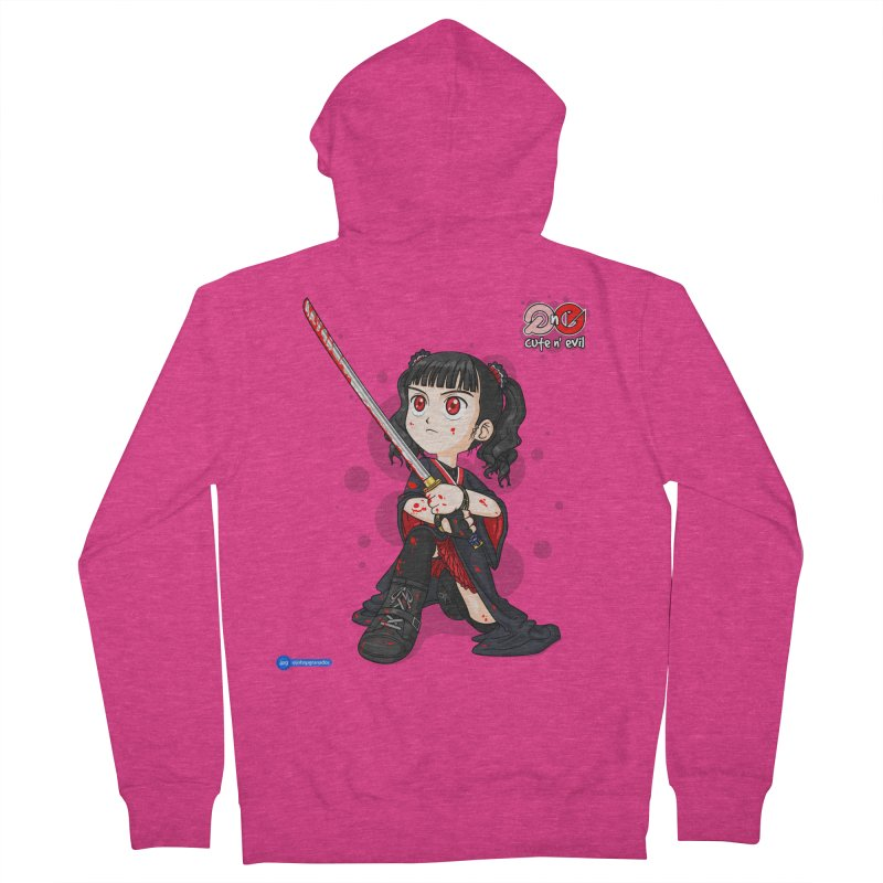 katana - cute n' evil Women's Zip-Up Hoody by Juan Pablo Granados - .jpg
