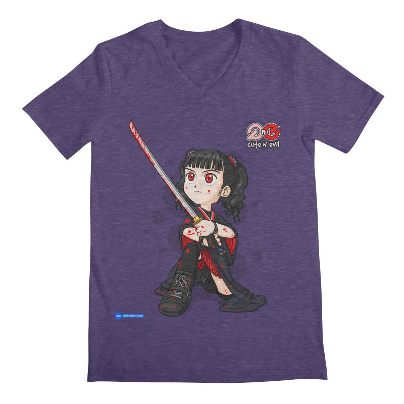 katana - cute n' evil Men's Regular V-Neck by Juan Pablo Granados - .jpg