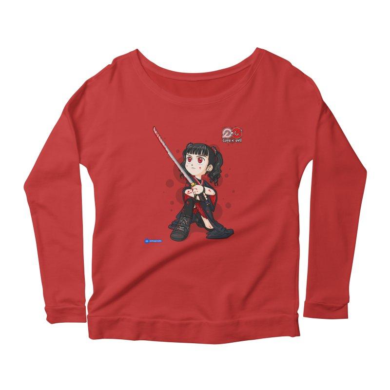 katana - cute n' evil Women's Scoop Neck Longsleeve T-Shirt by Juan Pablo Granados - .jpg