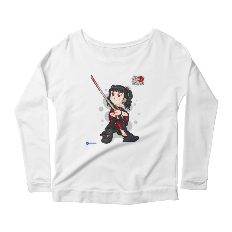 katana - cute n' evil Women's Scoop Neck Longsleeve T-Shirt by Juan Pablo Granados - .jpg