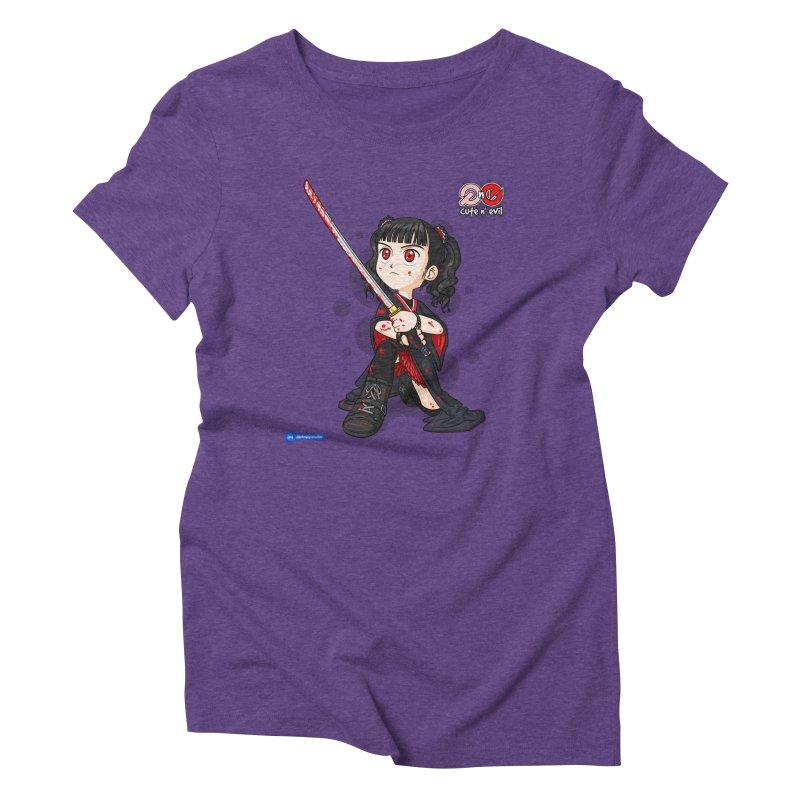 katana - cute n' evil Women's Triblend T-Shirt by Juan Pablo Granados - .jpg