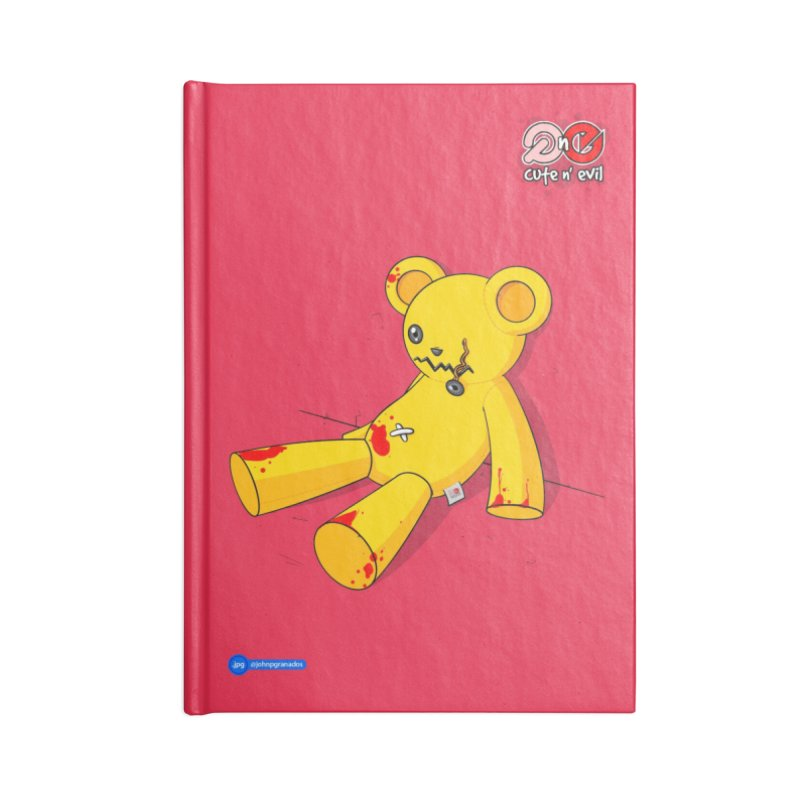 teddy - cute n' evil Accessories Notebook by Juan Pablo Granados - .jpg