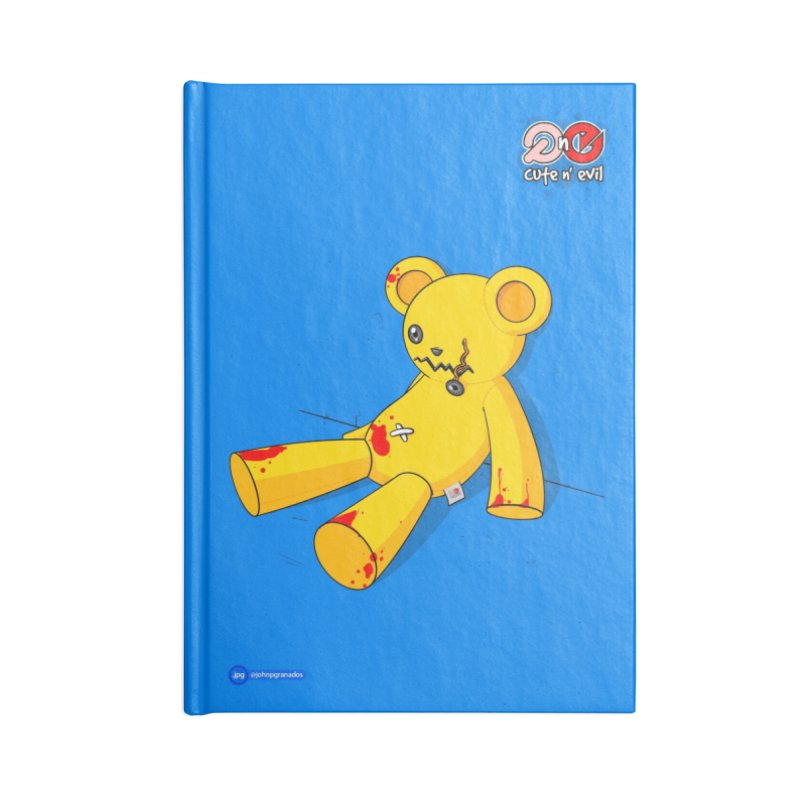 teddy - cute n' evil Accessories Blank Journal Notebook by Juan Pablo Granados - .jpg