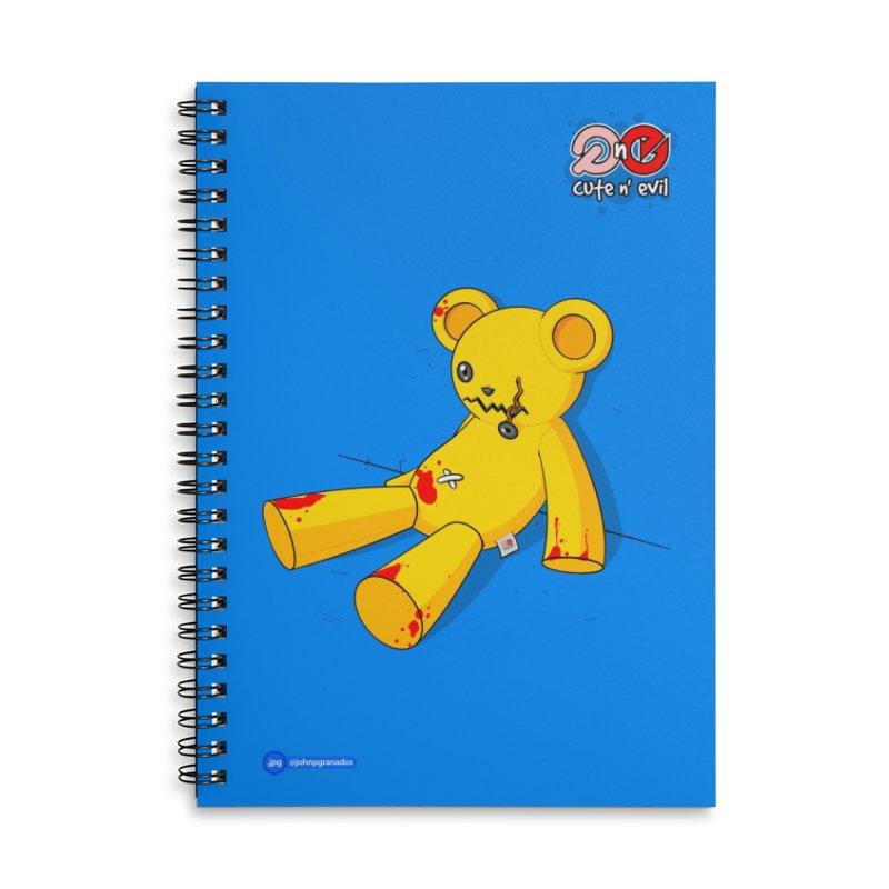 teddy - cute n' evil Accessories Lined Spiral Notebook by Juan Pablo Granados - .jpg
