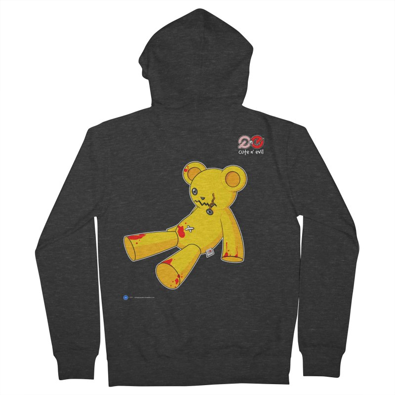 teddy - cute n' evil Men's Zip-Up Hoody by Artist Shop.jpg