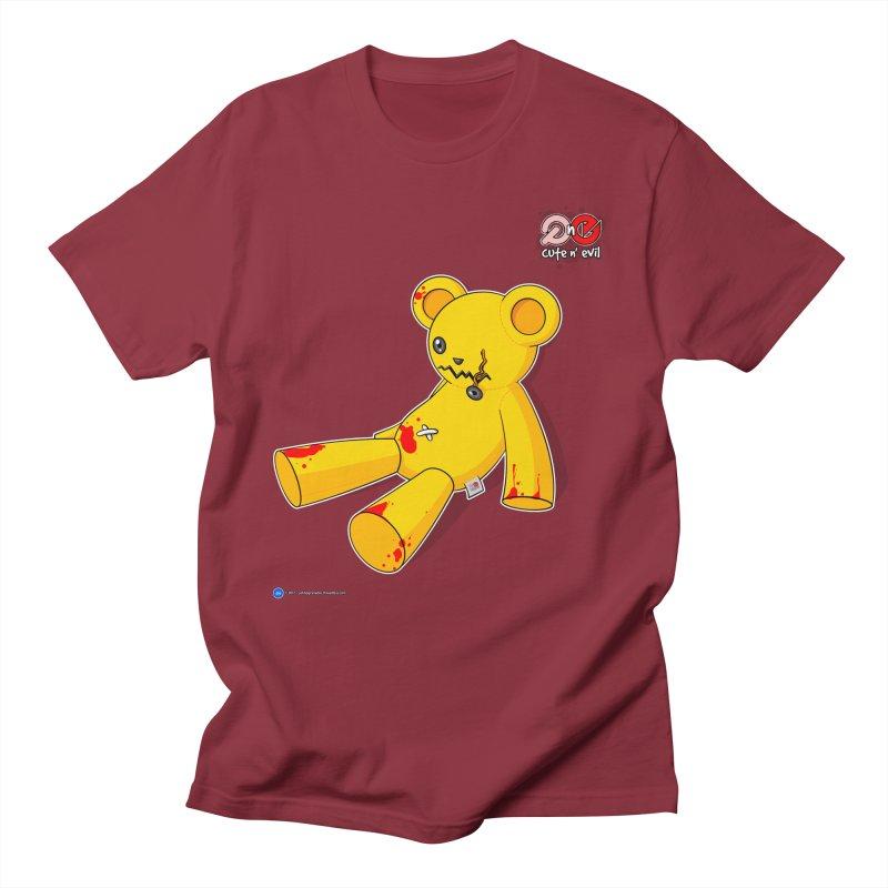 teddy - cute n' evil Men's T-Shirt by Artist Shop.jpg