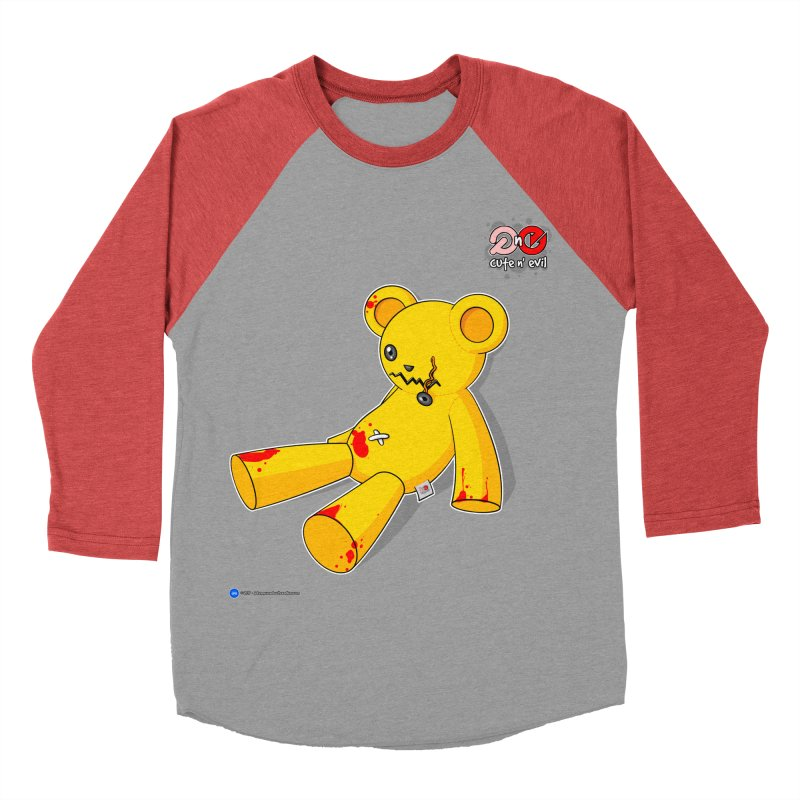 teddy - cute n' evil Men's Baseball Triblend T-Shirt by Artist Shop.jpg