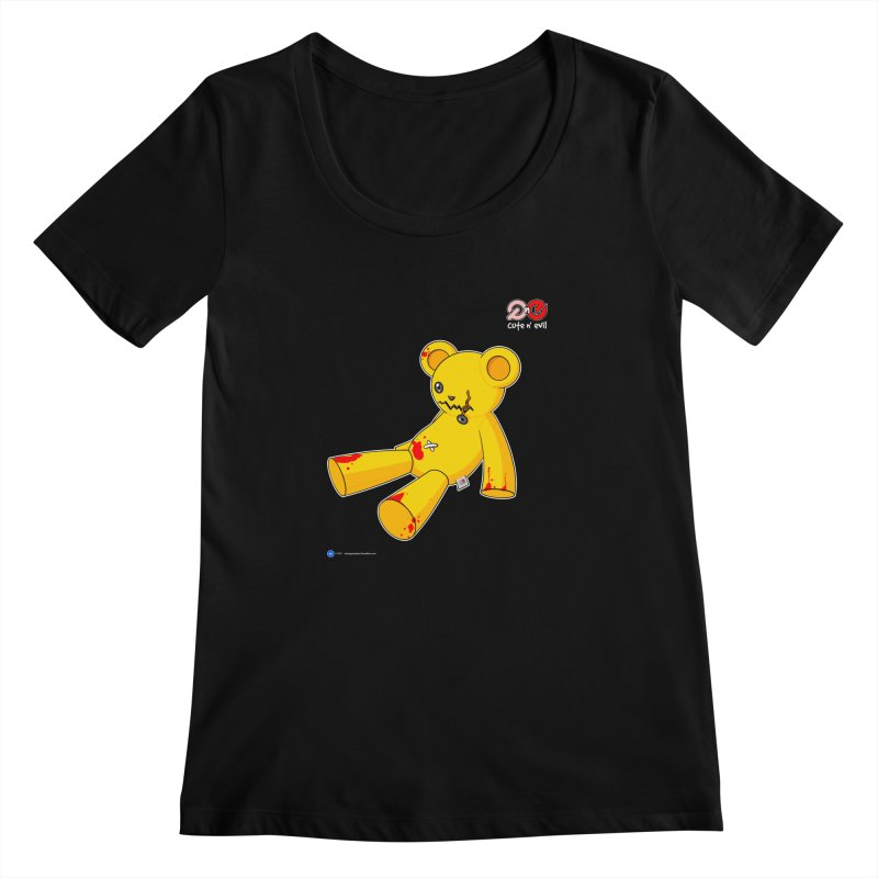 teddy - cute n' evil Women's Scoopneck by Artist Shop.jpg