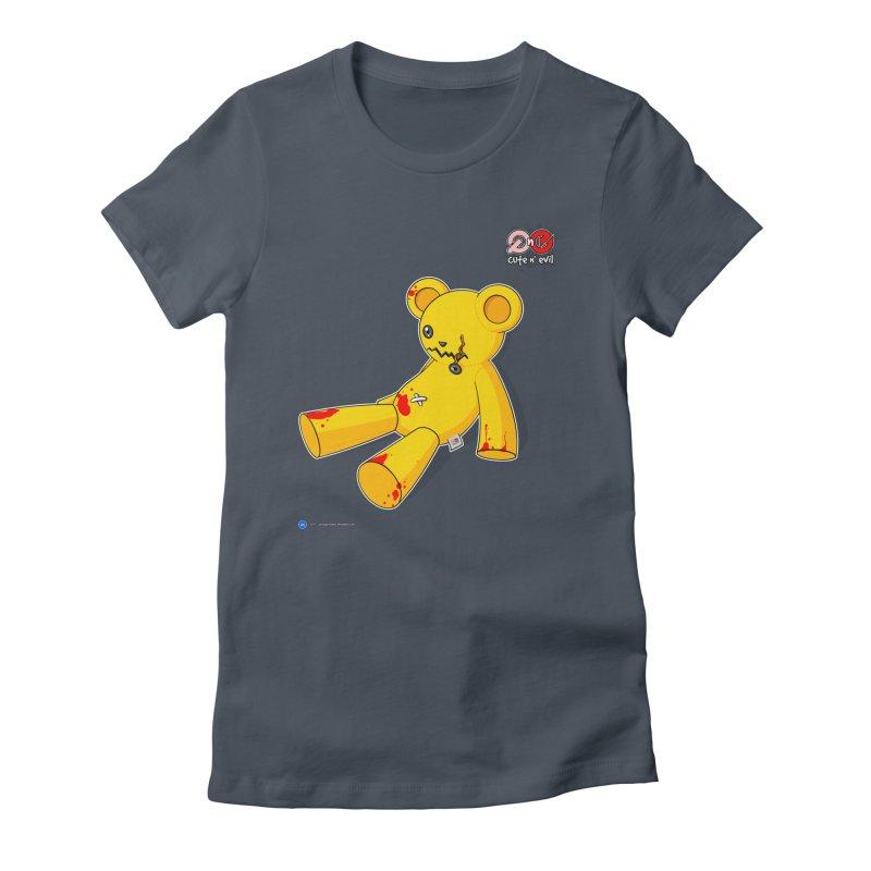 teddy - cute n' evil Women's Fitted T-Shirt by Artist Shop.jpg