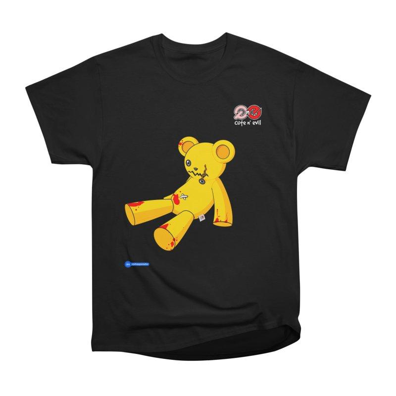 teddy - cute n' evil Men's Heavyweight T-Shirt by Juan Pablo Granados - .jpg