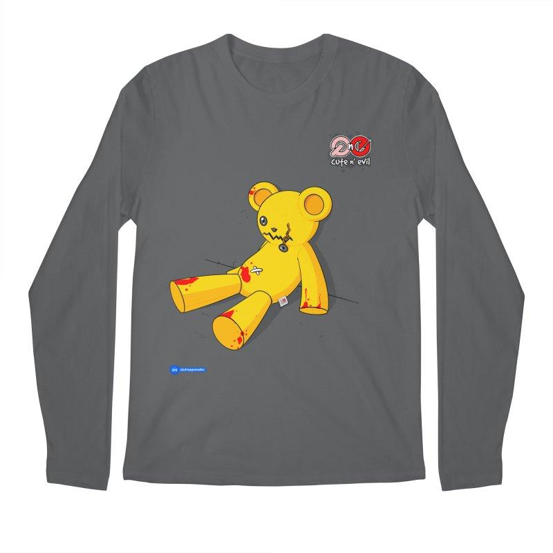 teddy - cute n' evil Men's Regular Longsleeve T-Shirt by Juan Pablo Granados - .jpg