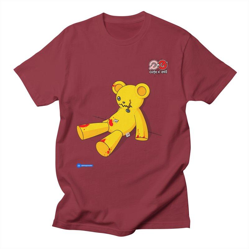 teddy - cute n' evil Men's Regular T-Shirt by Juan Pablo Granados - .jpg