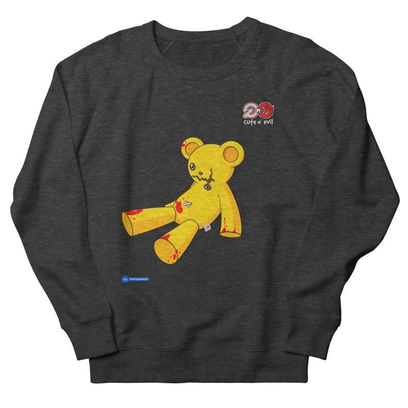 teddy - cute n' evil Women's French Terry Sweatshirt by Juan Pablo Granados - .jpg