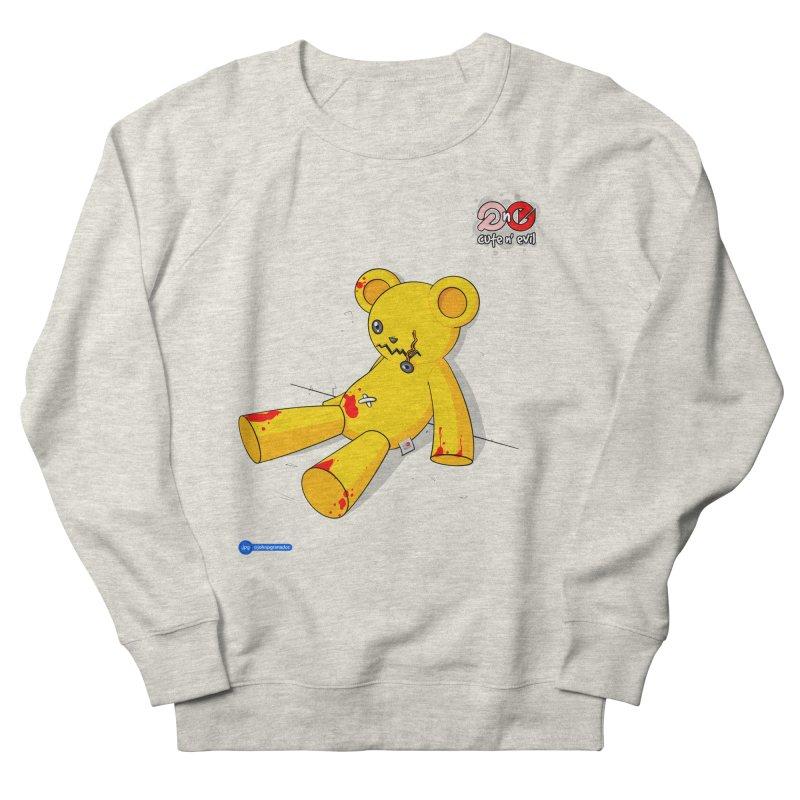 teddy - cute n' evil Men's French Terry Sweatshirt by Juan Pablo Granados - .jpg