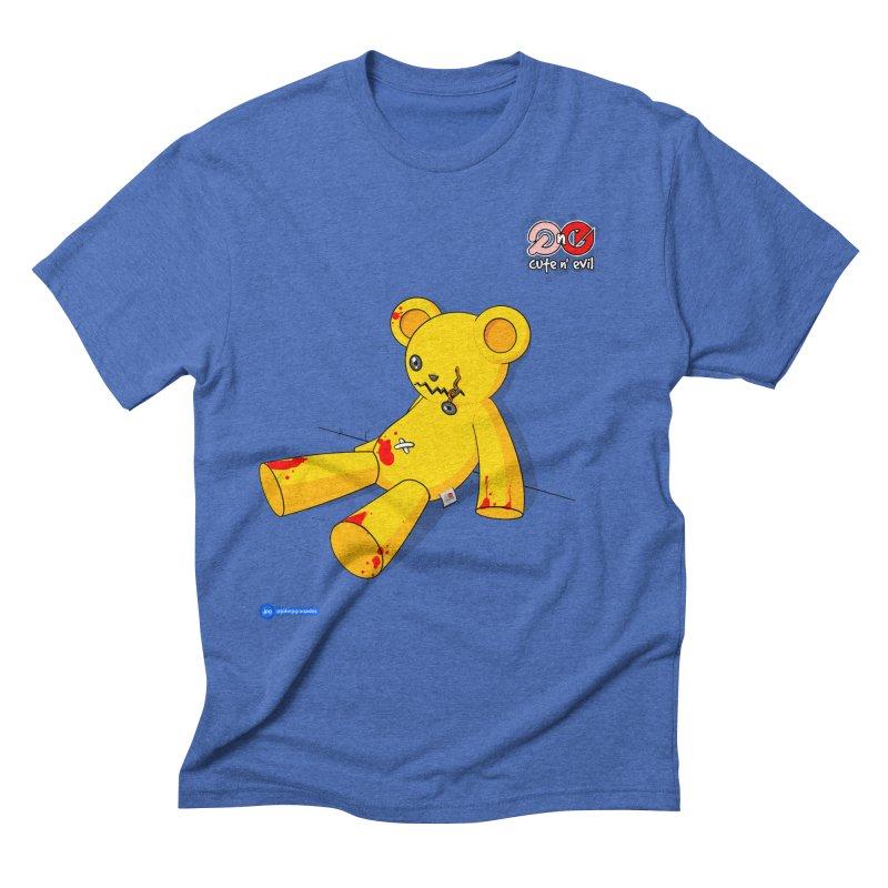 teddy - cute n' evil Men's Triblend T-Shirt by Juan Pablo Granados - .jpg