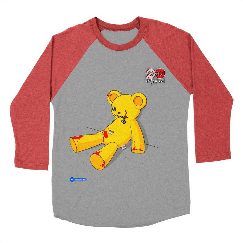 teddy - cute n' evil Women's Baseball Triblend T-Shirt by Juan Pablo Granados - .jpg