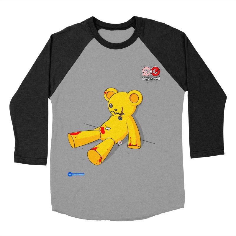 teddy - cute n' evil Women's Baseball Triblend Longsleeve T-Shirt by Juan Pablo Granados - .jpg