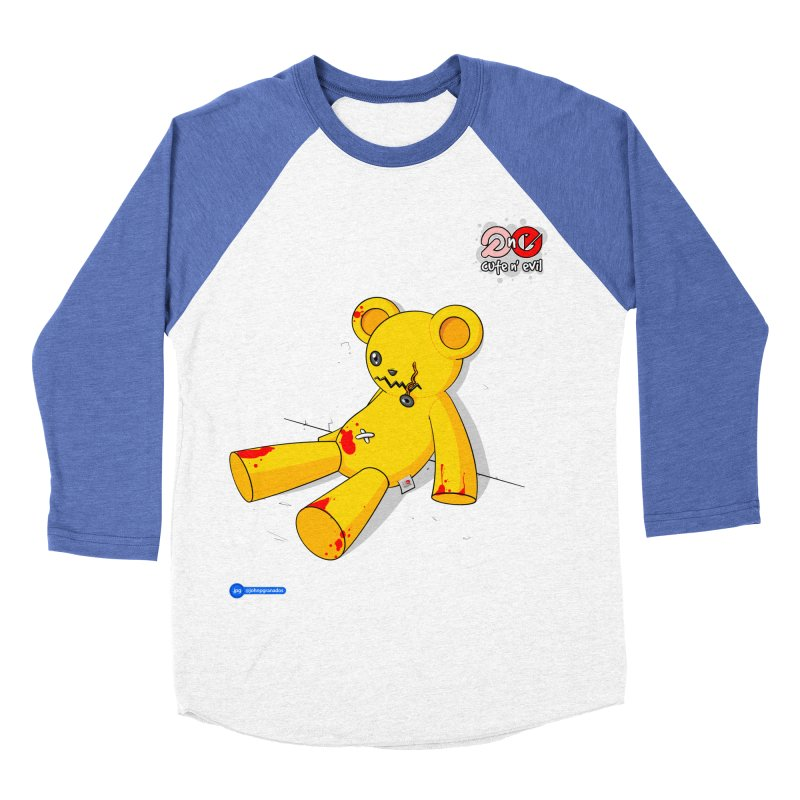 teddy - cute n' evil Men's Baseball Triblend Longsleeve T-Shirt by Juan Pablo Granados - .jpg