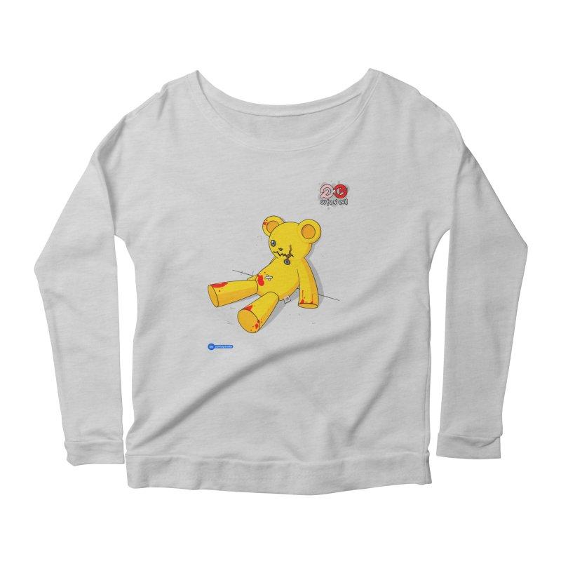 teddy - cute n' evil Women's Scoop Neck Longsleeve T-Shirt by Juan Pablo Granados - .jpg