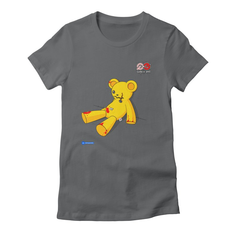 teddy - cute n' evil Women's Fitted T-Shirt by Juan Pablo Granados - .jpg