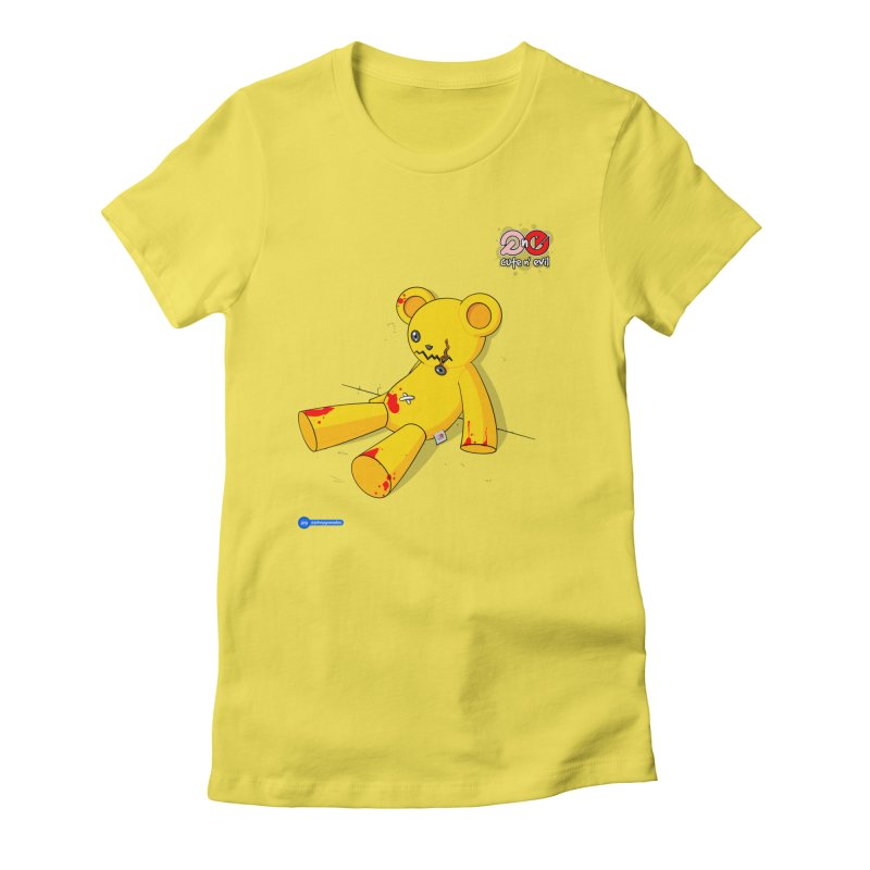 teddy - cute n' evil Women's Fitted T-Shirt by Juan Pablo Granados - .jpg