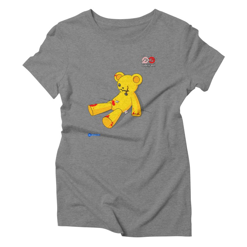 teddy - cute n' evil Women's Triblend T-Shirt by Juan Pablo Granados - .jpg