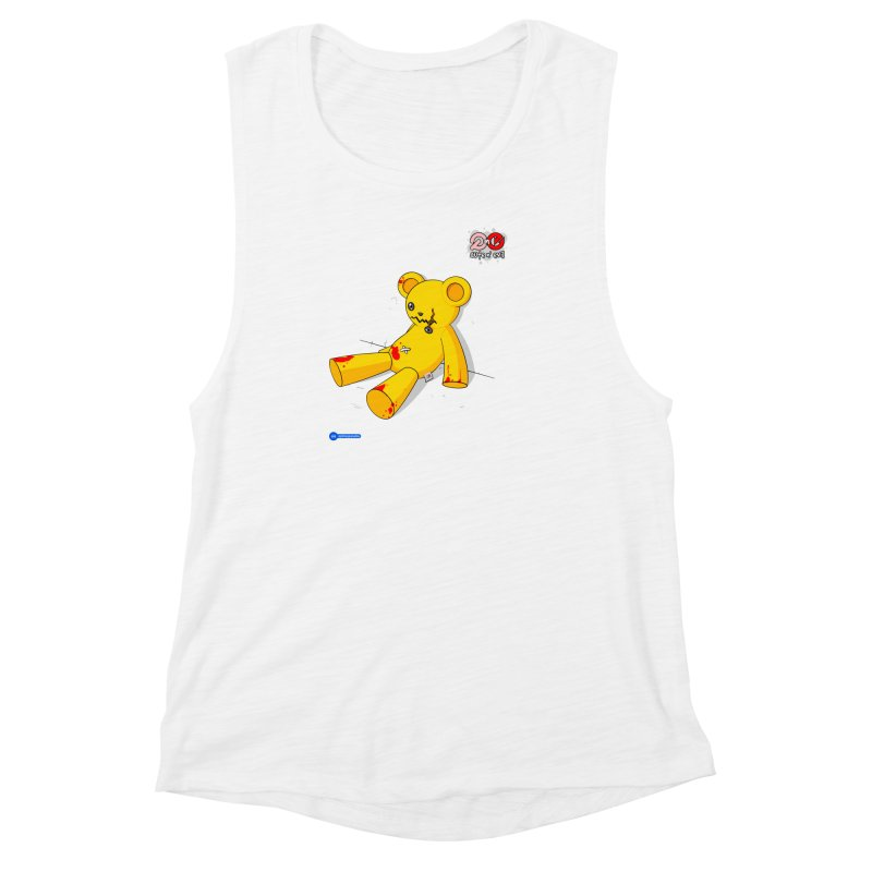 teddy - cute n' evil Women's Muscle Tank by Juan Pablo Granados - .jpg