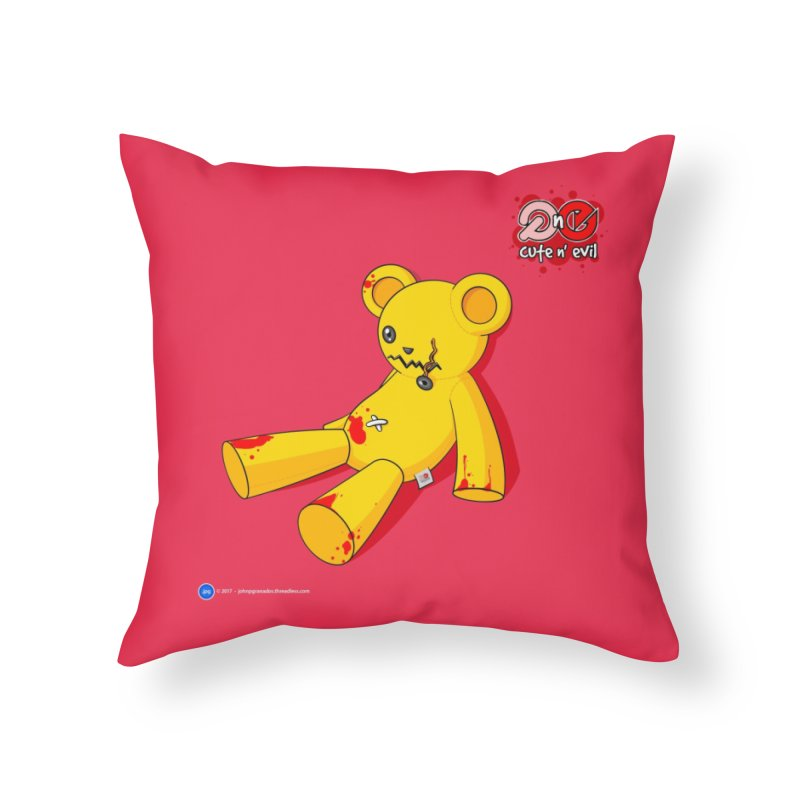 teddy - cute n' evil Home Throw Pillow by Artist Shop.jpg