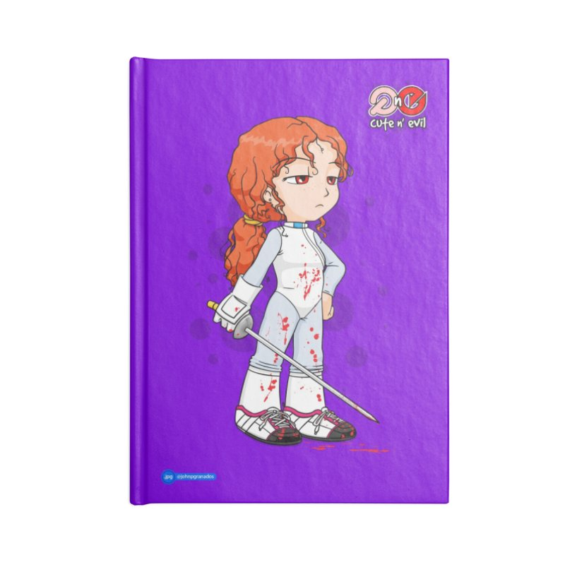 foil - cute n' evil Accessories Blank Journal Notebook by Juan Pablo Granados - .jpg