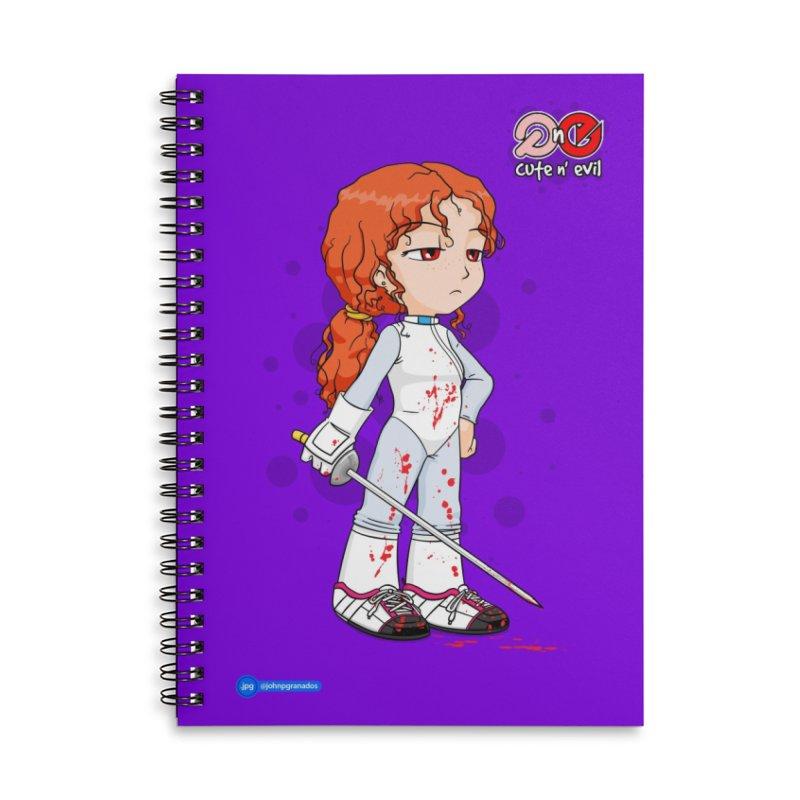 foil - cute n' evil Accessories Lined Spiral Notebook by Juan Pablo Granados - .jpg