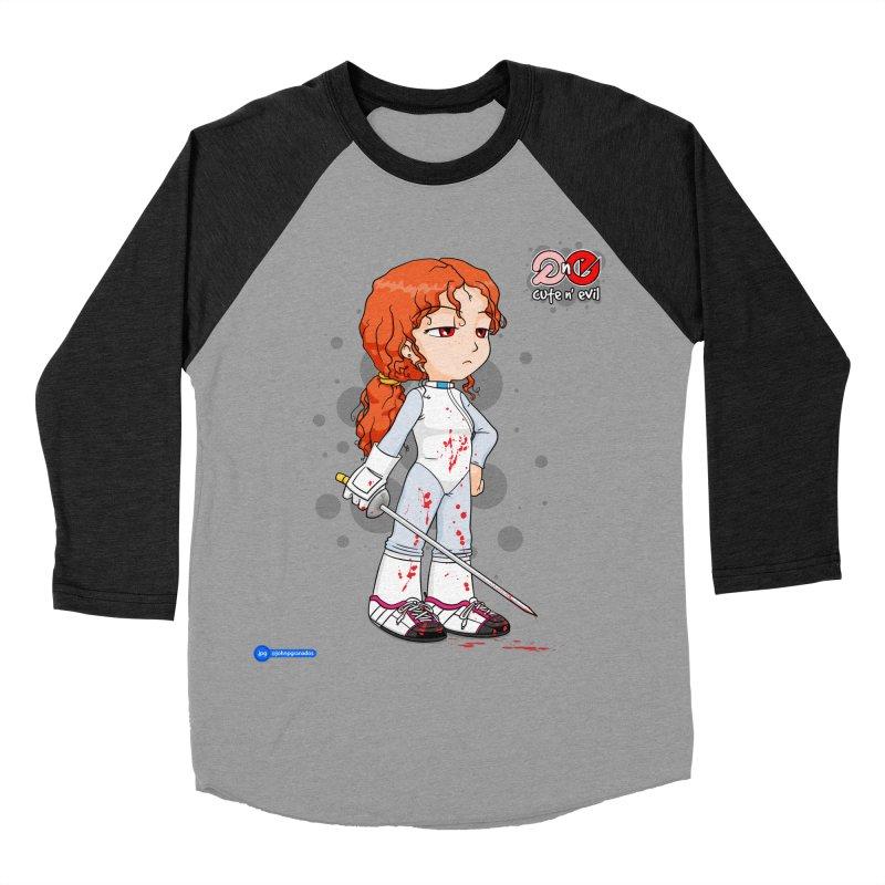 foil - cute n' evil Women's Baseball Triblend Longsleeve T-Shirt by Juan Pablo Granados - .jpg