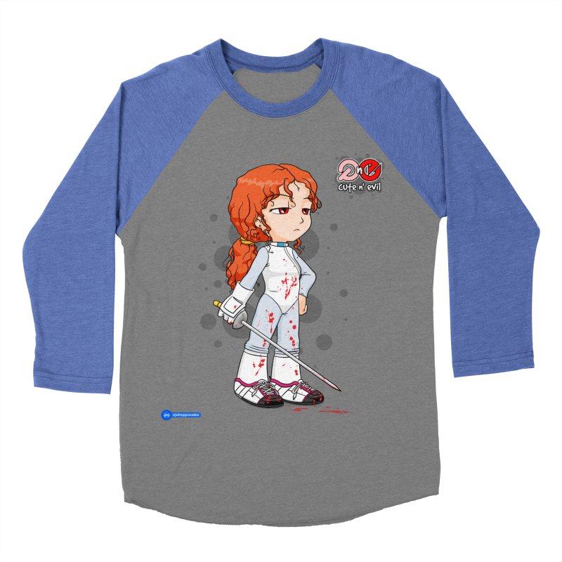 foil - cute n' evil Men's Baseball Triblend Longsleeve T-Shirt by Juan Pablo Granados - .jpg