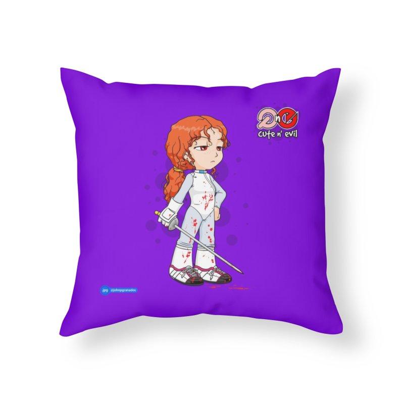 foil - cute n' evil Home Throw Pillow by Juan Pablo Granados - .jpg