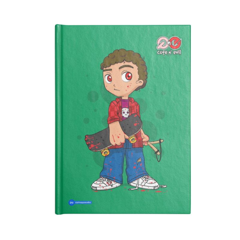 skateboard - cute n' evil Accessories Blank Journal Notebook by Juan Pablo Granados - .jpg