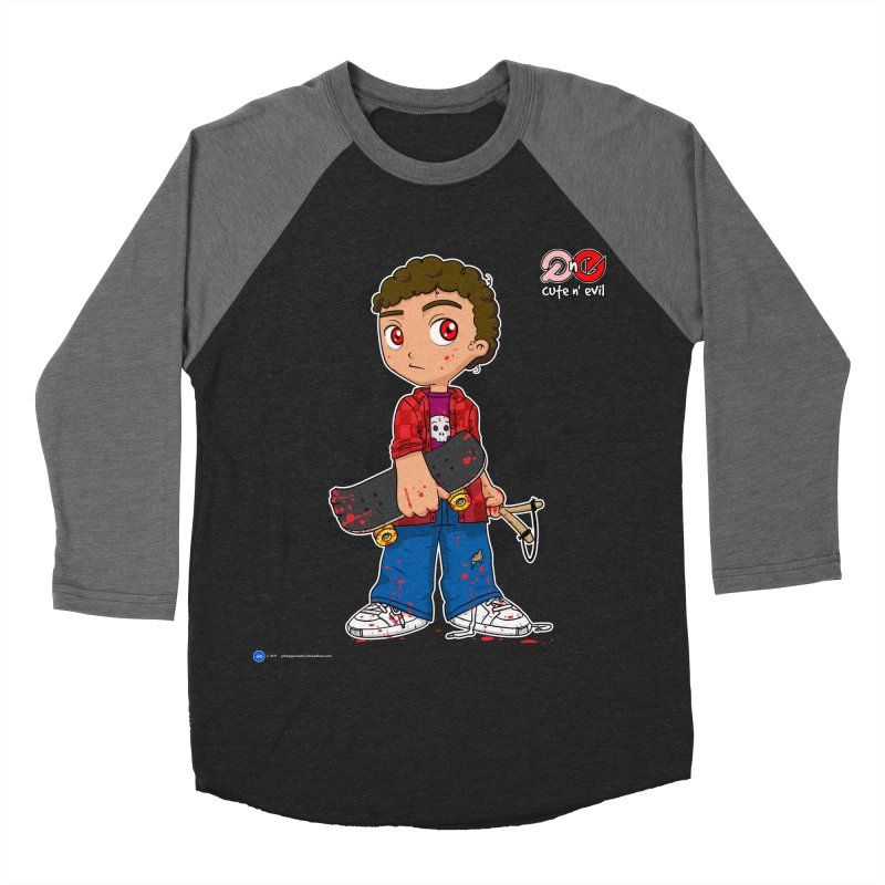 skateboard - cute n' evil Men's Baseball Triblend T-Shirt by Artist Shop.jpg