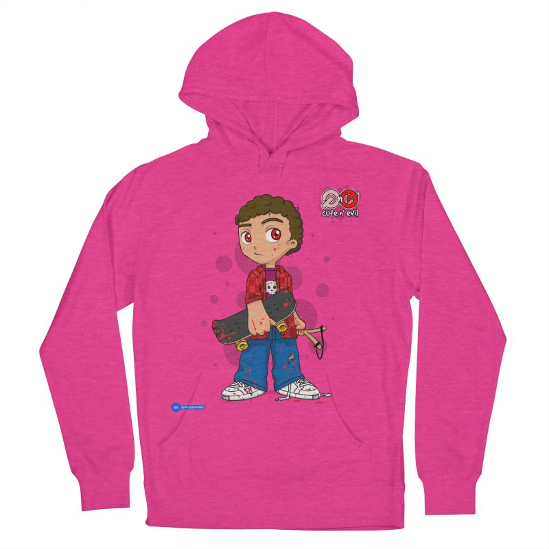 skateboard - cute n' evil Men's French Terry Pullover Hoody by Juan Pablo Granados - .jpg