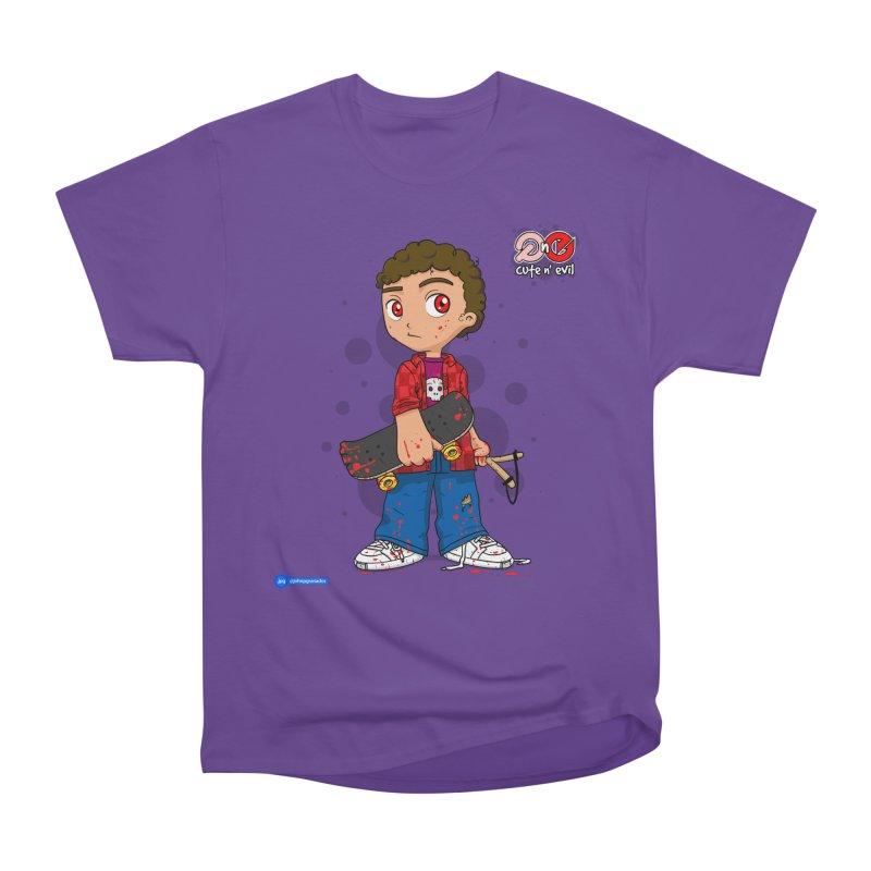 skateboard - cute n' evil Women's Heavyweight Unisex T-Shirt by Juan Pablo Granados - .jpg