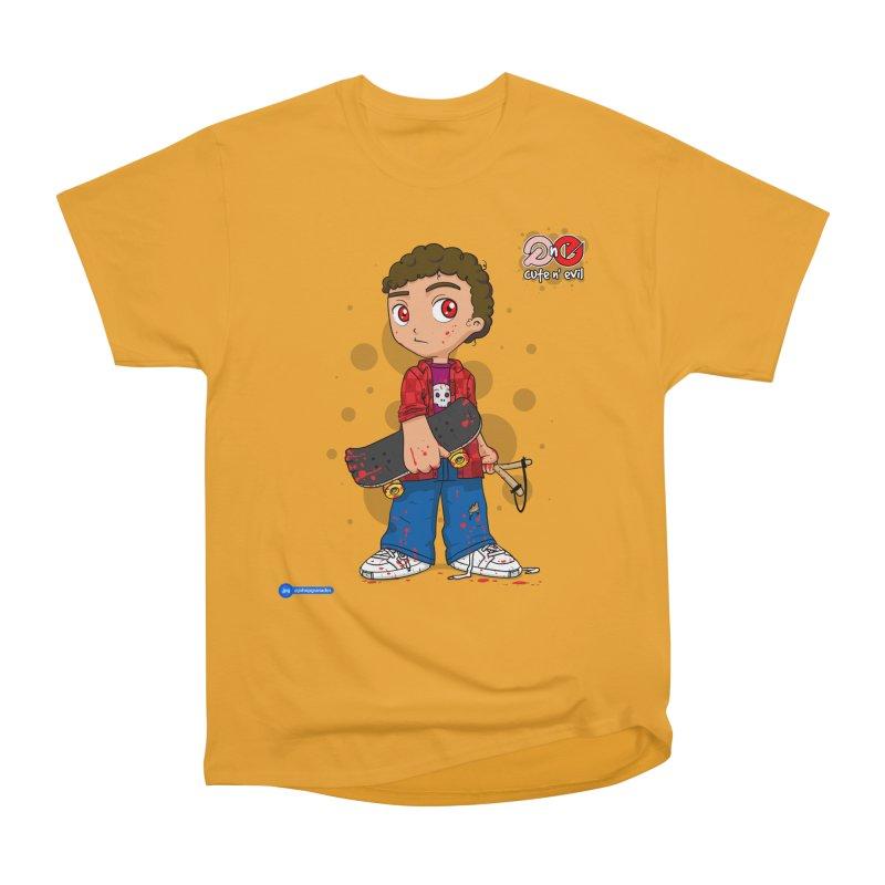 skateboard - cute n' evil Men's Heavyweight T-Shirt by Juan Pablo Granados - .jpg
