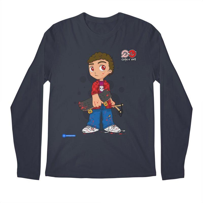 skateboard - cute n' evil Men's Regular Longsleeve T-Shirt by Juan Pablo Granados - .jpg