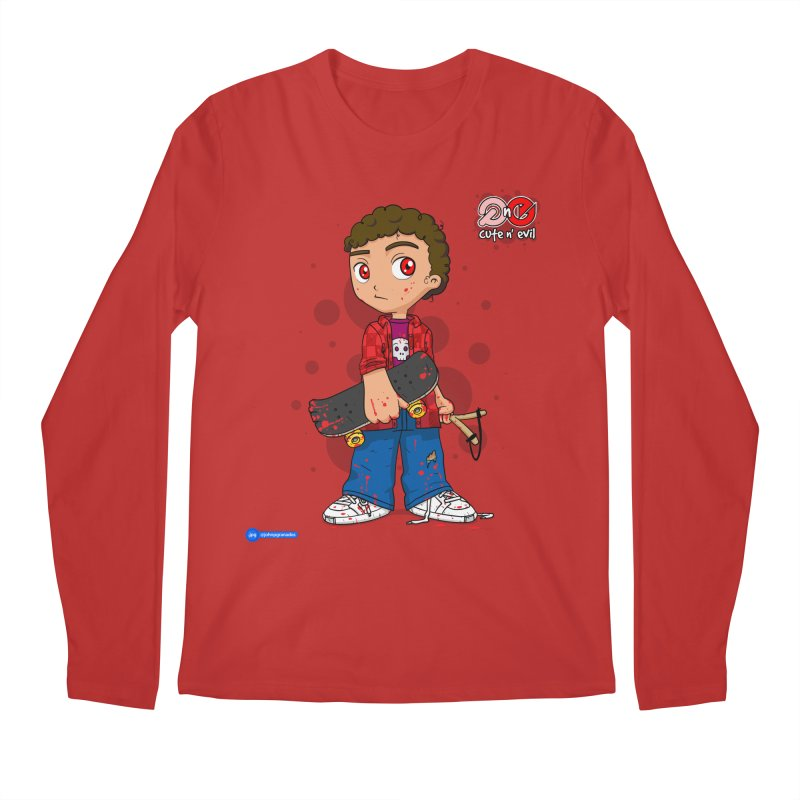 skateboard - cute n' evil Men's Regular Longsleeve T-Shirt by Juan Pablo Granados - .jpg