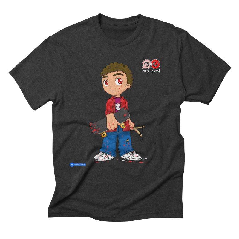 skateboard - cute n' evil Men's Triblend T-Shirt by Juan Pablo Granados - .jpg