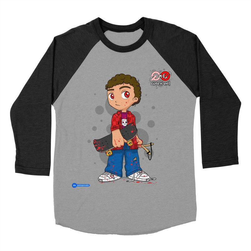 skateboard - cute n' evil Women's Baseball Triblend Longsleeve T-Shirt by Juan Pablo Granados - .jpg