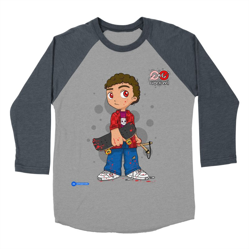 skateboard - cute n' evil Women's Baseball Triblend T-Shirt by Juan Pablo Granados - .jpg