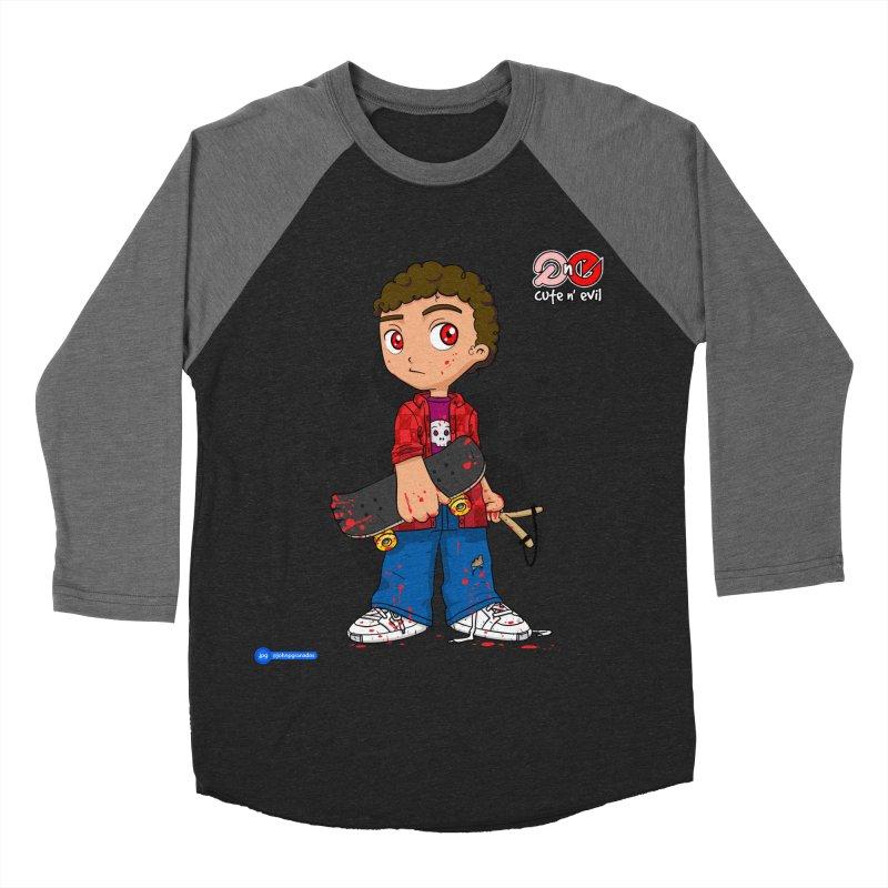 skateboard - cute n' evil Men's Baseball Triblend Longsleeve T-Shirt by Juan Pablo Granados - .jpg