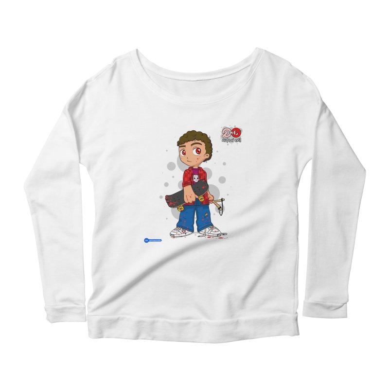 skateboard - cute n' evil Women's Scoop Neck Longsleeve T-Shirt by Juan Pablo Granados - .jpg