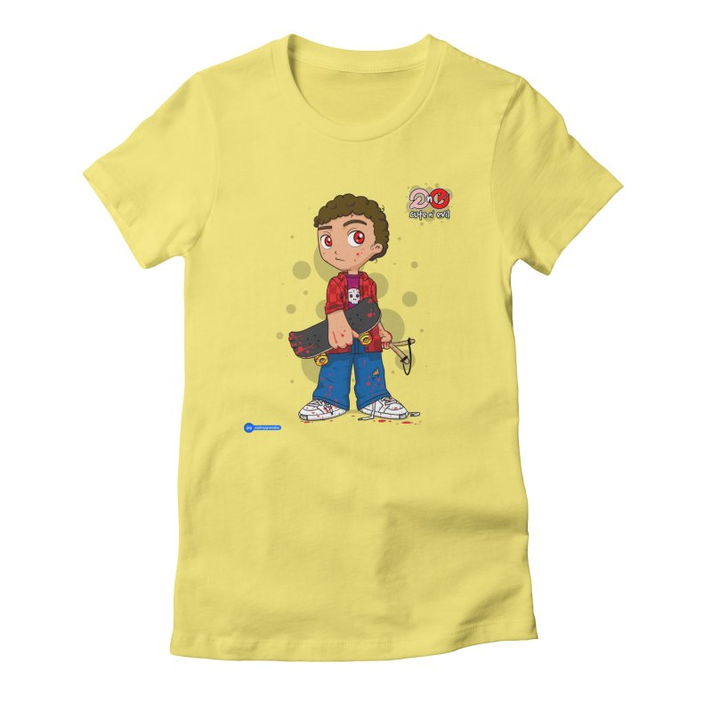 skateboard - cute n' evil Women's Fitted T-Shirt by Juan Pablo Granados - .jpg