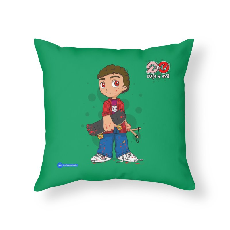 skateboard - cute n' evil Home Throw Pillow by Juan Pablo Granados - .jpg