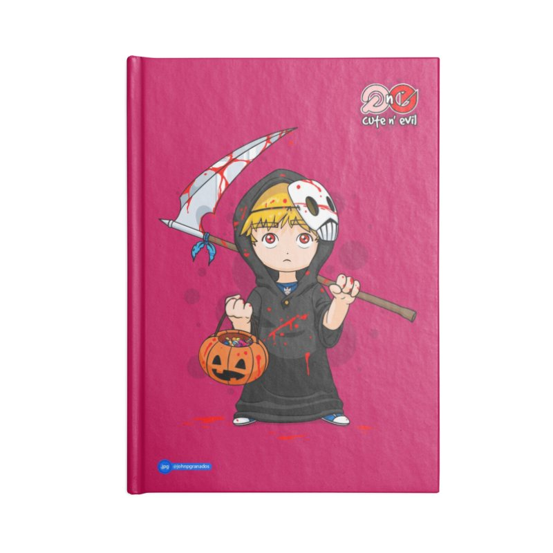 scythe - cute n' evil Accessories Blank Journal Notebook by Juan Pablo Granados - .jpg